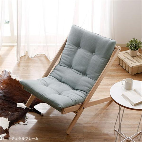 $240.64- Solid Wood Folding Leisure Chair with Thick Cushion Portable Comfortable Chair Outdoor Home Bedroom Leisure Chair Furniture