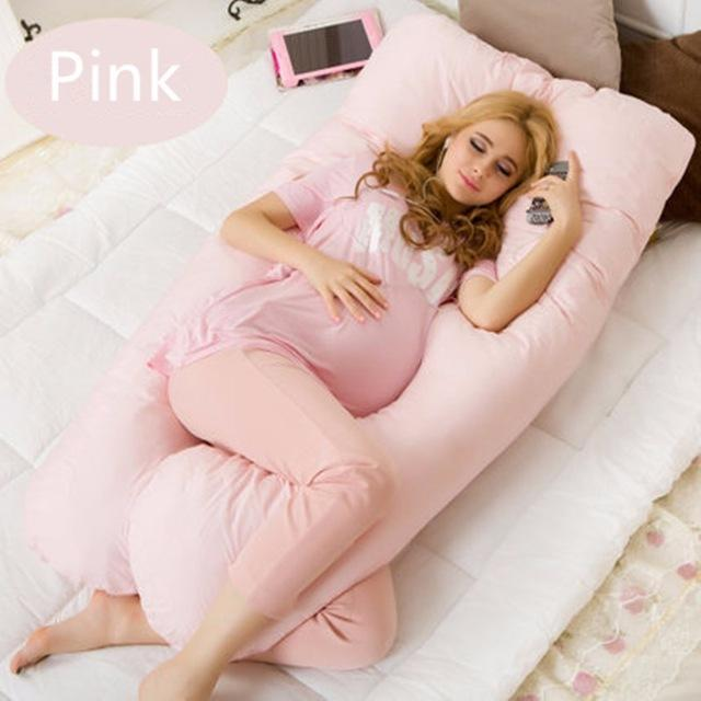 Large Cotton Bedding Pillow For Pregnant Women Pregnancy Pillow UShape Waist Belly Support Protecting For Sleep Nursing