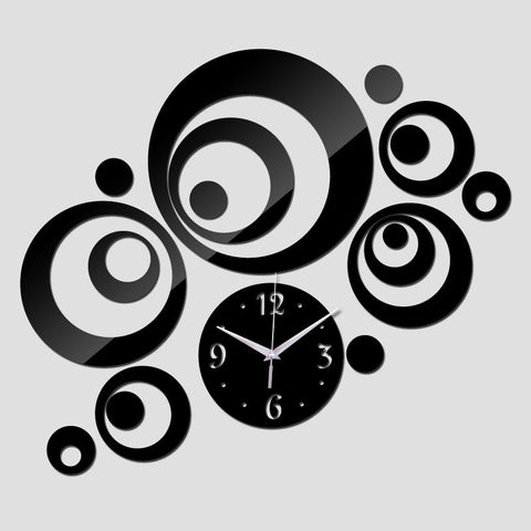Top Hot Diy Wall Clock Home Decoration Modern Design HighGrade Acrylic Clocks Wall Stickers Watches