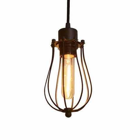 $18.95- Ascelina Led Pendant Light Edison Light Bulb Loft American Country Pendant Lamp Lighting Industry Vintage Iron Lamps For Home