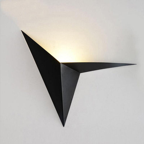 $48.40- Modern Minimalist Triangle Shape Led Wall Lamps Nordic Style Indoor Wall Lamps Living Room Lights 3W Ac85265V Simple Lighting