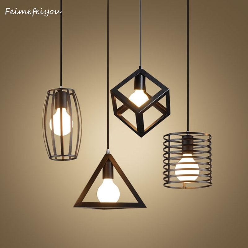 $34.94- Feimefeiyou Nordic retro iron creative chandeliers loft simple personality singlehead restaurant lights bar art pendent light