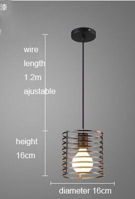Feimefeiyou Nordic retro iron creative chandeliers loft simple personality singlehead restaurant lights bar art pendent light