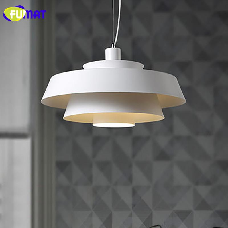 Pendant Lamp White Iron Hanging Lights Simple Dinning Room Lighting Scandinavian Pendant Lights Led Round 50Cm Modern