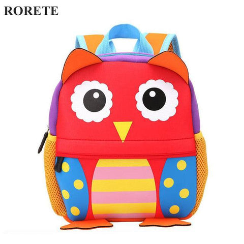 $30.96- Neoprene Children 3D Kids Bag Cute Animal Design Backpack Toddler Kid School Bags Kindergarten Cartoon Bag Giraffe Monkey Owl