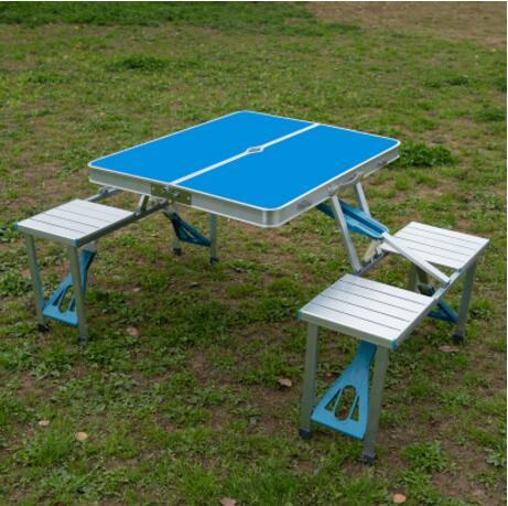 Portable Aluminum Alloy Outdoor Tables Camping Beach Folding Tables & Chairs