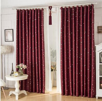 $20.70- Single Panel Modern Hooking Blackout Children Curtains Star Window Curtain Decoration Draperies Living Room Bedroom Cortina