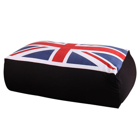 $100.30- LEVMOON Beanbag Sofa Chair UK Flag Seat Zac Bean Bag Bed Cover W/out Filling Indoor Beanbags Seat Chair