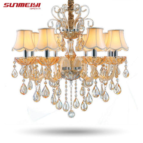 Top Fasion Chandeliers Candle Crystal Light Pendant Lamp Lighting For Living Room Modem Lights Indoors Lamps