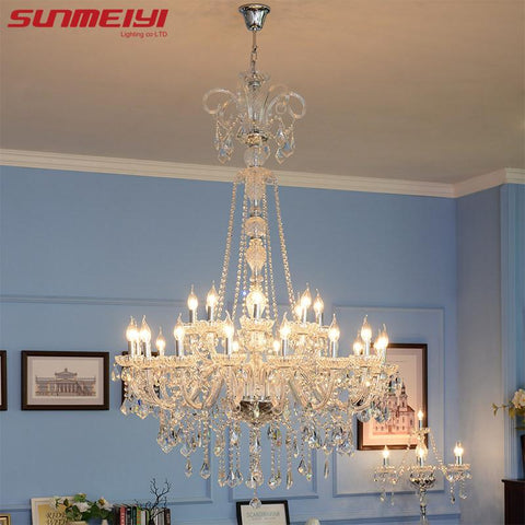 $615.32- Long Stair Chandelier Crystal Large Foyer Light Modern Fashion Living Room Dining Hall Complex Staircase Lighting Chandelier
