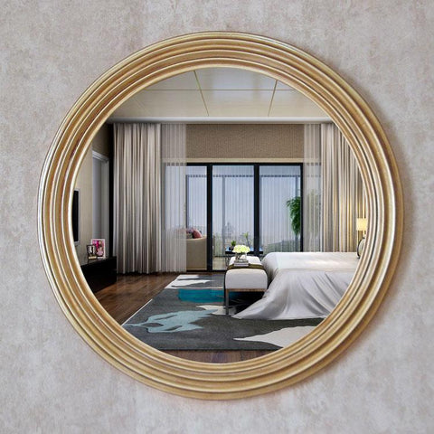 $491.92- Diameter 68cm Retro golden decorative mirrors American luxury style home wall decor bathroom TV background mirrors