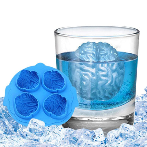 $9.46- Multifunctional Silicone Ice Mould Brain Shaped Icepop Ice Lattice Cube Diy Juice Cocktail Grids Making Mold Pubs Barware
