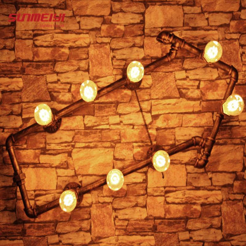 Personality Creative Loft Style Arrows Pipe Bedroom Wall Light Living Room Light Cafe Lamp Bars Light Shipping