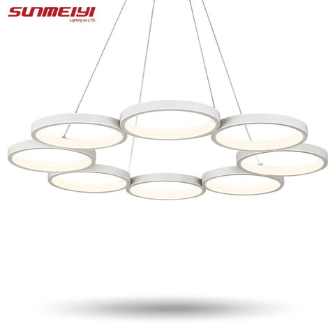 $196.76- Modern Led Pendant Light For Kitchen Dining Room White Pendant Lamp Led Lighting Ceiling Lamp Fixtures Suspension Hanging