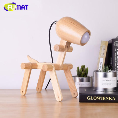 Modern Wood Table Lamps Art Decor Desk Lamps For Study Living Room Nordic Creative Children Bedrom Beside Light