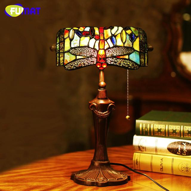 Stained glass table lamp european style dragonfly glass art stained glass table lamp european style dragonfly glass art tiffany lamp living room hotel bedside lamp light fixtures aloadofball Gallery