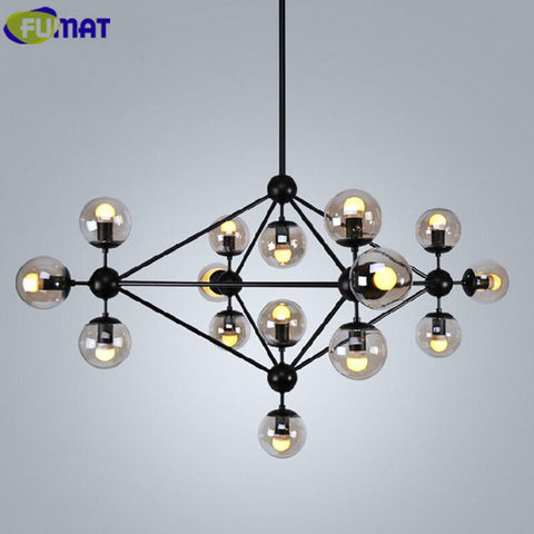 Magic Bean Chandeliers Modern Vintage Glass Ball Lights American Living Room Lamp Nordic Dinning Room Modo Hanging Lamps