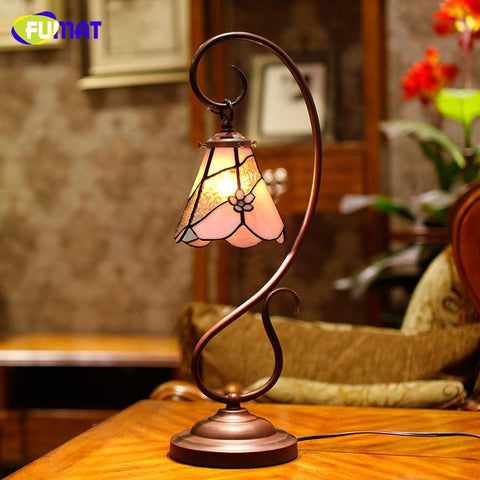 $298.80- Glass Art Lamp European Garden Stained Glass Table Lamp Bedside Lamp Classic Style Living Room Bar Decor Light Fixtures
