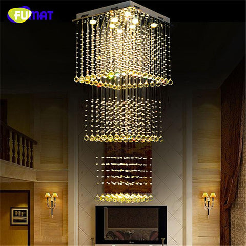 $678.96- K9 Crystal Chadeliers Modern K9 Crystal Led Art Fashion Hotel Project Stairs Lamp Living Room Lustre Ceiling Light Fixture
