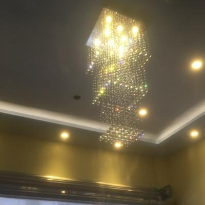 K9 Crystal Chadeliers Modern K9 Crystal Led Art Fashion Hotel Project Stairs Lamp Living Room Lustre Ceiling Light Fixture