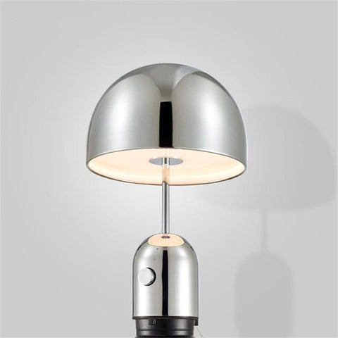 Mushroom Table Lamps Nordic Modern Alloy Table Lamp Living Room Study Desk Lamp Bedroom Bedside Lights Gold Chrome