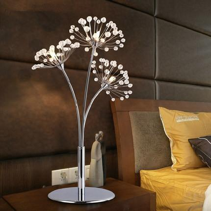 Nordic Wedding Bedroom Beside Light Simple Romantic Led Table Lamp Dandelion Creative Modern Crystal Table Lamps