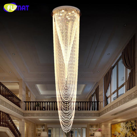 K9 Crystal Stair Chandeliers Modern Creative Spiral Light Fitting For Hotel Villa Lobby Led Crystal Lights Chandeliers