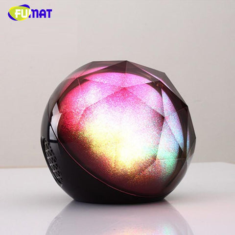 $62.41- Crystal Magic Ball Night Light Bluetooth Speaker Bass Speaker Led Changeable Music Player Support Tf Card W/ Remote Lamp