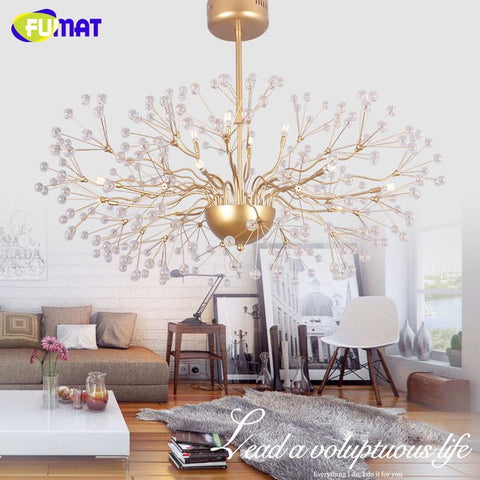 $647.80- Led Crystal Chandelier Floral French Lustre Chrome Glass Suspension Lamp Living Room Bed Room Modern Art Chandeliers