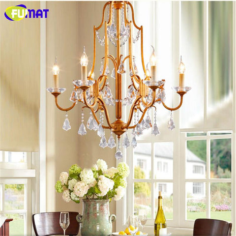 K9 Crystal Chandeliers Vintage American Suspension Lamp For Living Room Hotel Bar Art Deco Crystal Hanging Light Fixtures