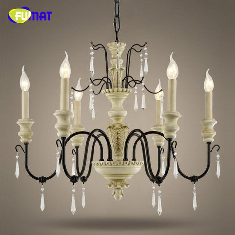 K9 Crystal Chandeliers European Vintage Suspension Lamp Living Room Dining Room Lamp Loft Art Deco Crystal Light Fixtures