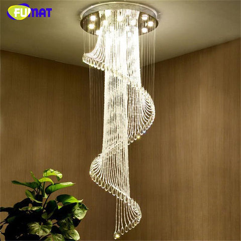 $467.40- K9 Crystal Chandelier European K9 Crystal Spiral Lights Living Room Modern Creative Led Lustre Hotel Villa Chandelier Lamp