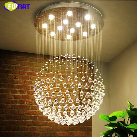 K9 Crystal Stair Chandeliers Indoor Creative Spiral Suspension Lightings Gu10 Led Hotel Villa Fashion Large Chandeliers