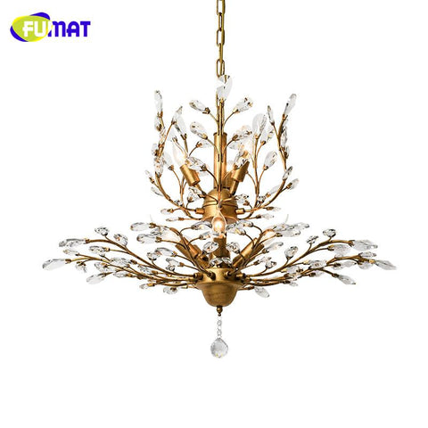 K9 Crystal Chandelier American Crystal Lightings Living Room Study Room Creative Led Art Deco Metal Vintage Chandeliers
