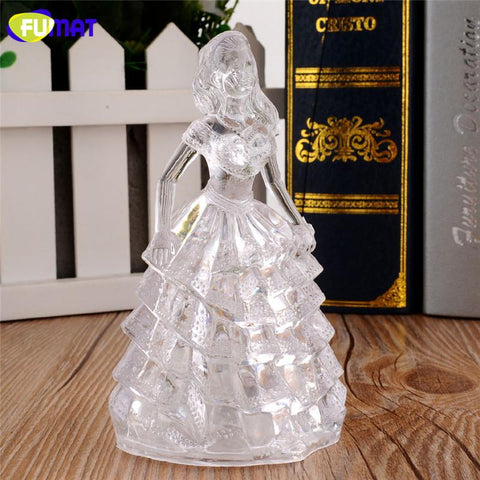 $12.69- Colorful Princess Night Light Acrylic Princess Night Lamp Abajur Infantil Holiday Flourescent Flash Light Lampara Girl