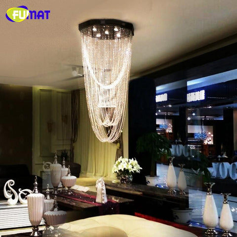$514.96- K9 Crystal Chandelier Lightings Modern Led Curtain Crystal Light Living Room Hotel Hanging Lights Gu10 Led Lustre Lamps