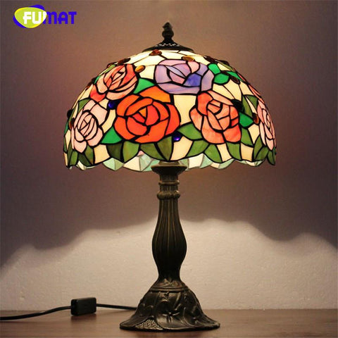 $278.37- Stained Glass Lamps Modern Creative Glass Art Lamp European Style Minimalist Living Room Bedside Table Light Fixtures