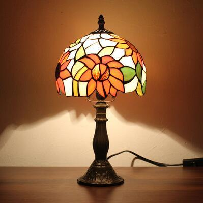 $207.11- Stained Glass Lamp Small Table Lamp Art Glass Lampshade Lamp Living Room Hotel Bedside Book Store Bar Decor Light Fixtures