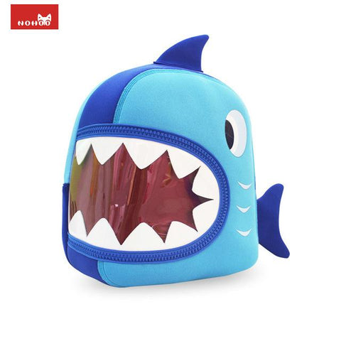 $47.54- Nohoo Waterproof School Bags Blue 3D Shark Kids Backpack Cartoon Animal Children School Bags For Girls Boys Toddler Baby Bag