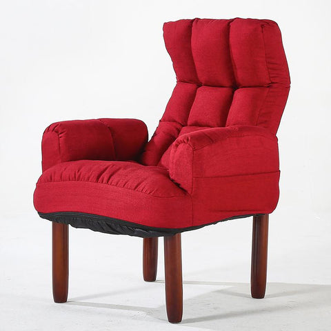 $278.85- Modern Upholstery Fabric Sofa Armchair Living Room Furniture Folding Recliner Reclining Back Arm Accent Chair W/ Wooden Legs