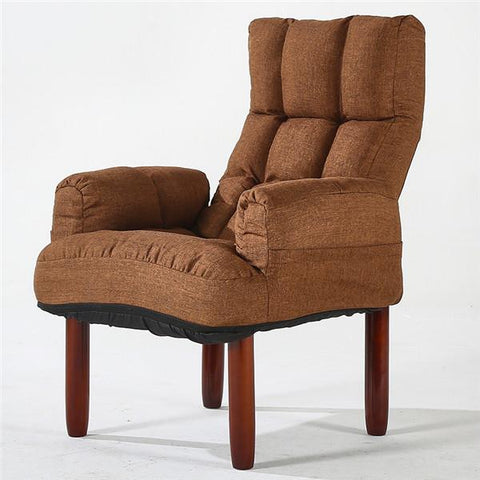 Modern Upholstery Fabric Sofa Armchair Living Room Furniture Folding Recliner Reclining Back Arm Accent Chair W/ Wooden Legs
