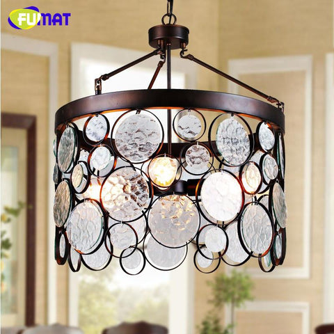 $597.48- Loft Metal Pendant Lights Art Deco Suspension Lamp Glass Lamp For Living Room American Simple Cafe Bar Hanging Lights