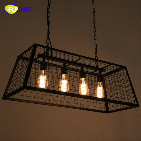 $507.86- Loft Box Pendant Lamps Vintage Industrial Art Decor Edison Pendant Lamp Dining Room Black Metal Bar Cafe Pendant Light