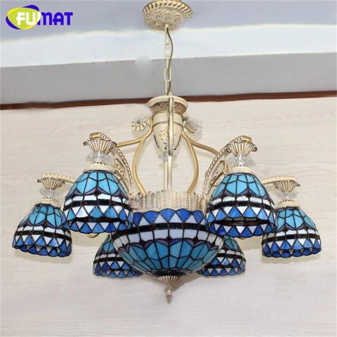 Tiffany Pendant Light European Vintage Glass Pendant Light Artistic Tiffany Bar Cafe Lamp Indoor Dining Room Pendant Light