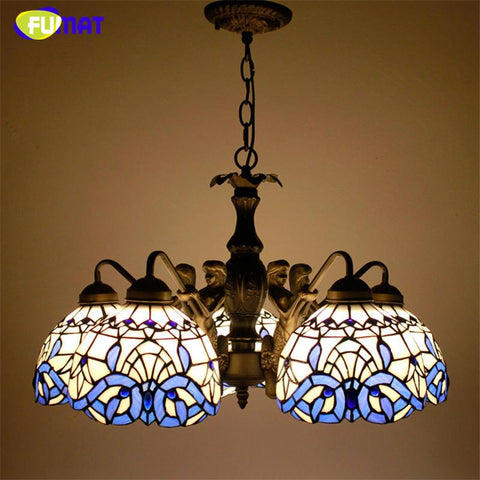 $367.98- Stained Glass Lights Vintage Antique Suspension Light Kitchen Living Room Mermaind Body Baroque Led Bedroom Pendant Lamp