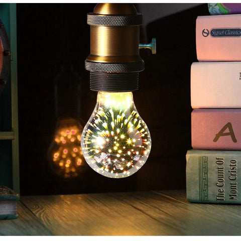 Greeneye 3D Colour Star & Retro Led Edison Bulb E27 Lamp Decoration Novelty Light St64 G80 G95 A60 Holiday Wedding Party Ampoule