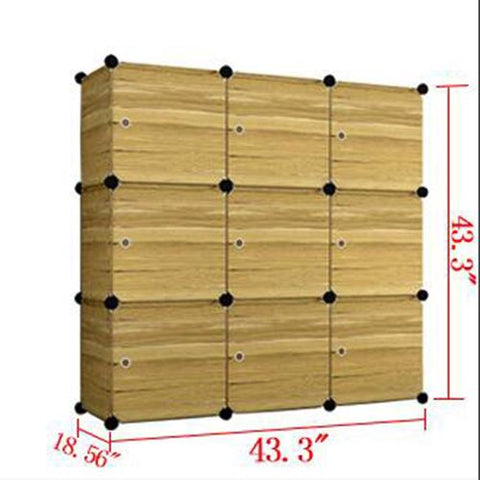 $115.09- PRWMAN DIY Magic Piece of Resin Storage Cabinets Bedroom Wardrobe Furniture Cloth Adult Assembly Dormitory Student Wardrobe