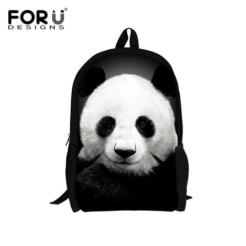 $29.93- Forudesigns Cute Kids Backpack Canvas Bagpack Panda Owl Wolf Animal Printing Children School Bag For Teenage Boy Girls Rucksack