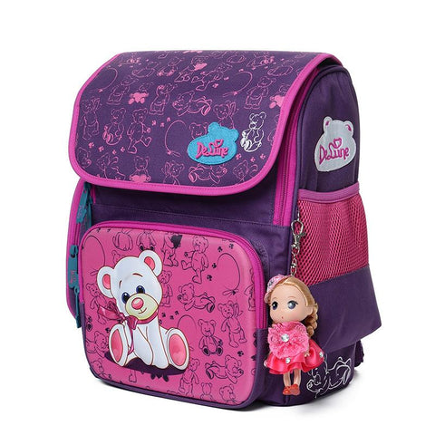 $54.00- Delune Cute School Bag Orthopedic Backpack Children School Backpacks Character Zipper Backpack For Kids Girls Boys