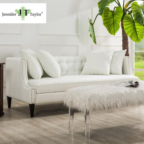$1041.60- Jennifer Taylor Caroline Antique White Sofa82W X 35 1/2D X 30 1/2H